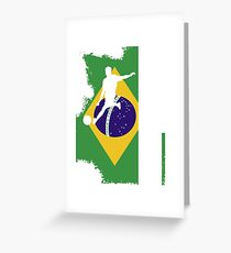 BRAZIL RUSSIA 2018 T-SHIRT Greeting Card