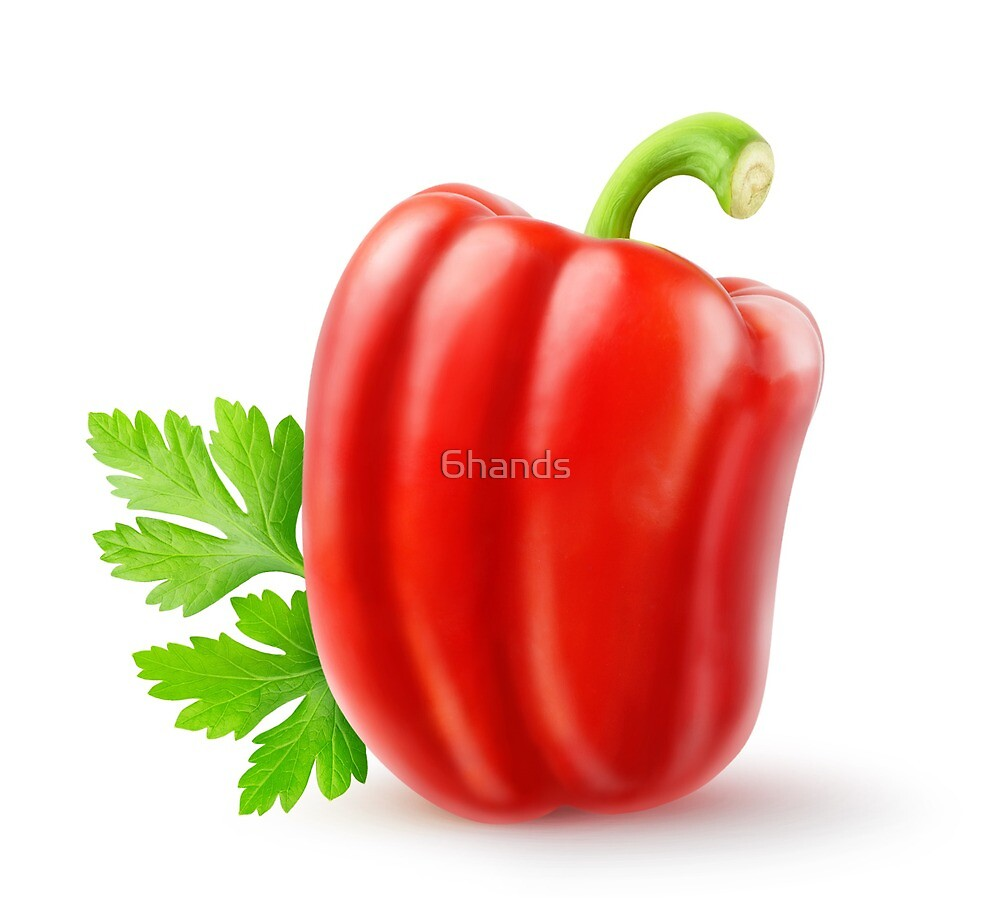 Red bell pepper and parsley by 6hands