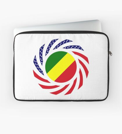 Congolese American (Republic of) Multinational Patriot Flag Series Laptop Sleeve