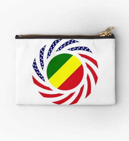 Congolese American (Republic of) Multinational Patriot Flag Series Zipper Pouch
