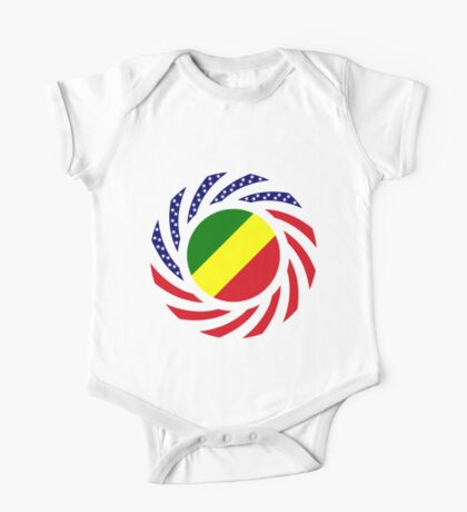 Congolese American (Republic of) Multinational Patriot Flag Series Kids Clothes
