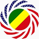 Congolese American (Republic of) Multinational Patriot Flag Series by Carbon-Fibre Media