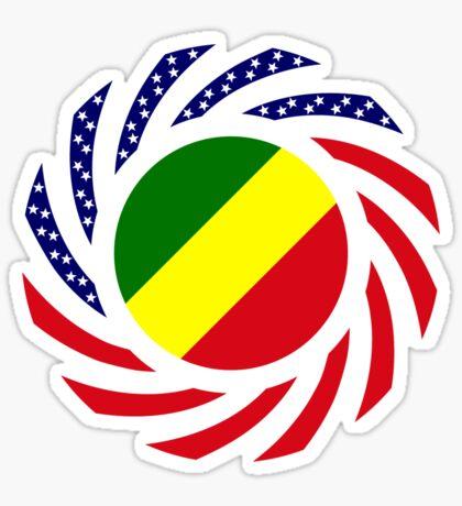 Congolese American (Republic of) Multinational Patriot Flag Series Sticker