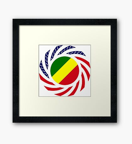 Congolese American (Republic of) Multinational Patriot Flag Series Framed Print