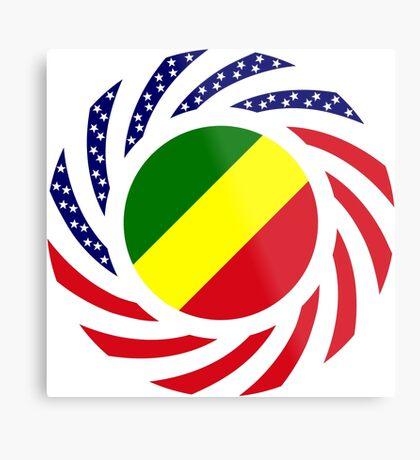 Congolese American (Republic of) Multinational Patriot Flag Series Metal Print