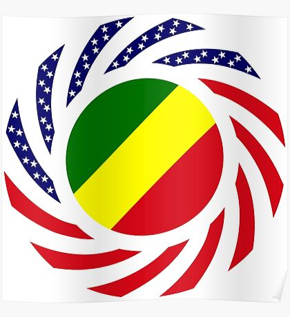 Congolese American (Republic of) Multinational Patriot Flag Series Poster