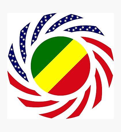 Congolese American (Republic of) Multinational Patriot Flag Series Photographic Print