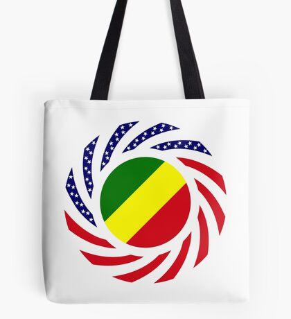 Congolese American (Republic of) Multinational Patriot Flag Series Tote Bag