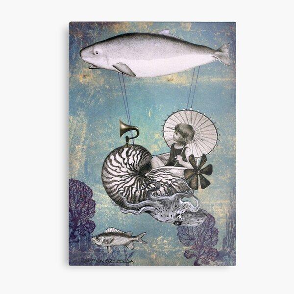 Emma the Nautilus-naut Metal Print