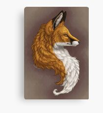 Red Fox Bust background Canvas Print