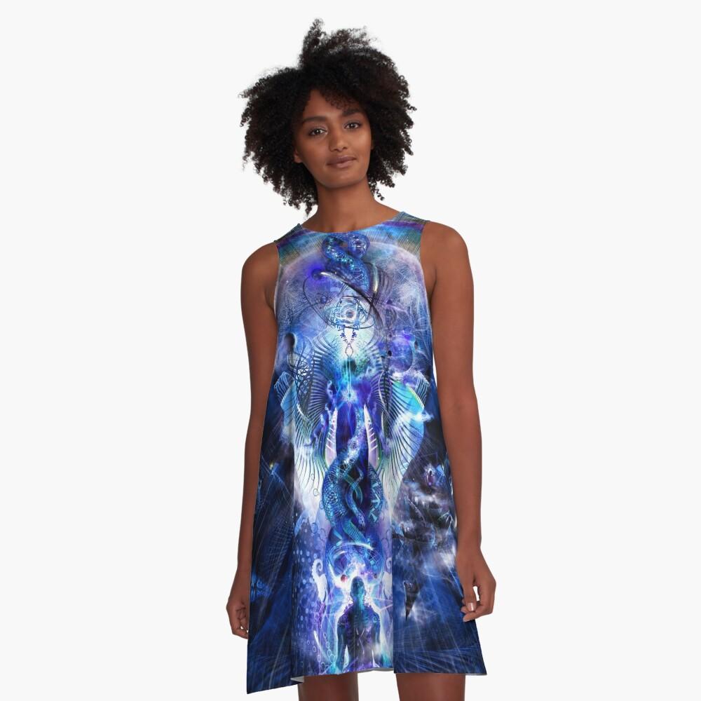 Cosmic Ascension A-Line Dress