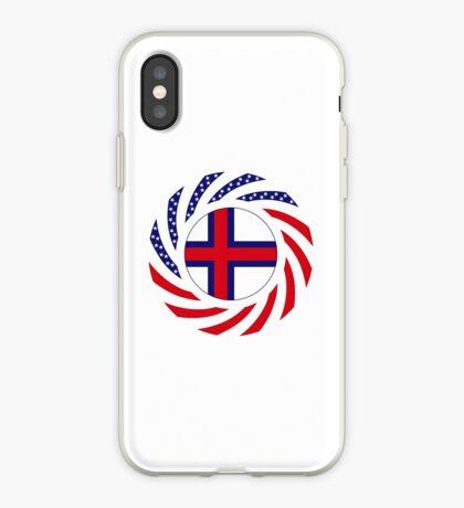 Faroe Islands American Multinational Patriot Flag Series iPhone Case