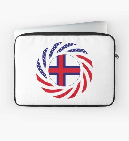 Faroe Islands American Multinational Patriot Flag Series Laptop Sleeve