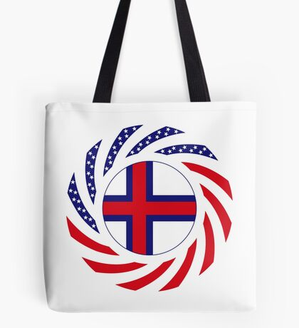 Faroe Islands American Multinational Patriot Flag Series Tote Bag