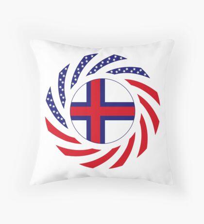 Faroe Islands American Multinational Patriot Flag Series Throw Pillow