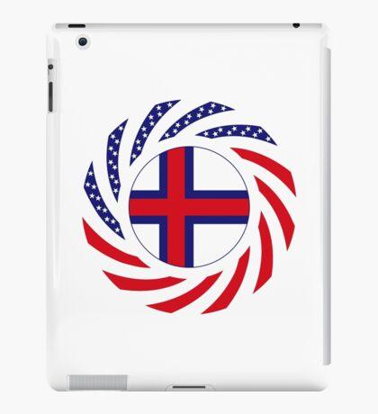 Faroe Islands American Multinational Patriot Flag Series iPad Case/Skin