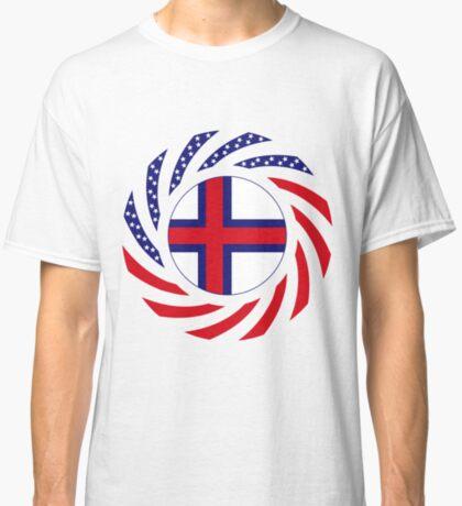Faroe Islands American Multinational Patriot Flag Series Classic T-Shirt