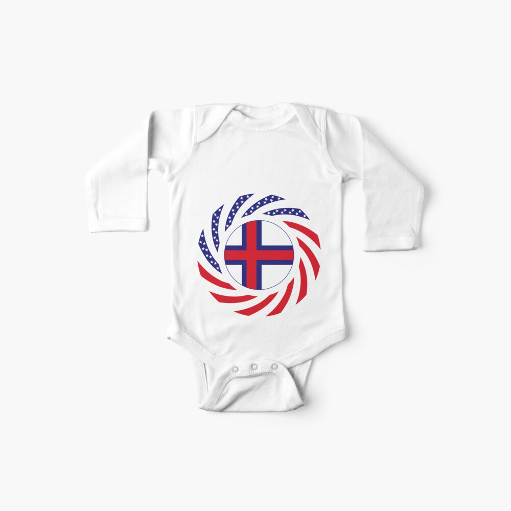 Faroe Islands American Multinational Patriot Flag Series Baby One-Piece
