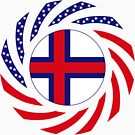 Faroe Islands American Multinational Patriot Flag Series by Carbon-Fibre Media