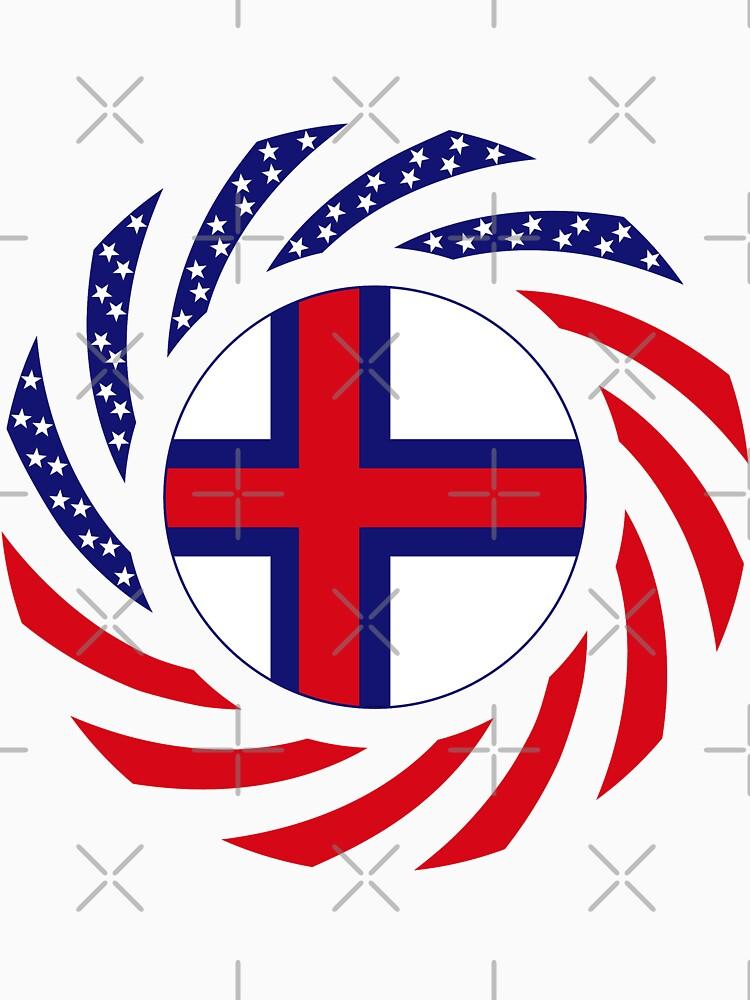 Faroe Islands American Multinational Patriot Flag Series by carbonfibreme