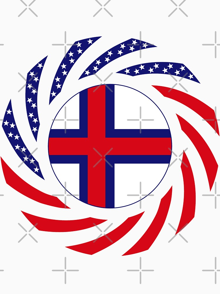Faroe Islands American Multinational Patriot Flag Series by carbonfibreme