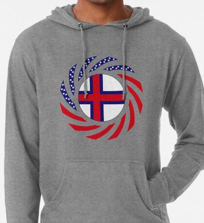 Faroe Islands American Multinational Patriot Flag Series Lightweight Hoodie