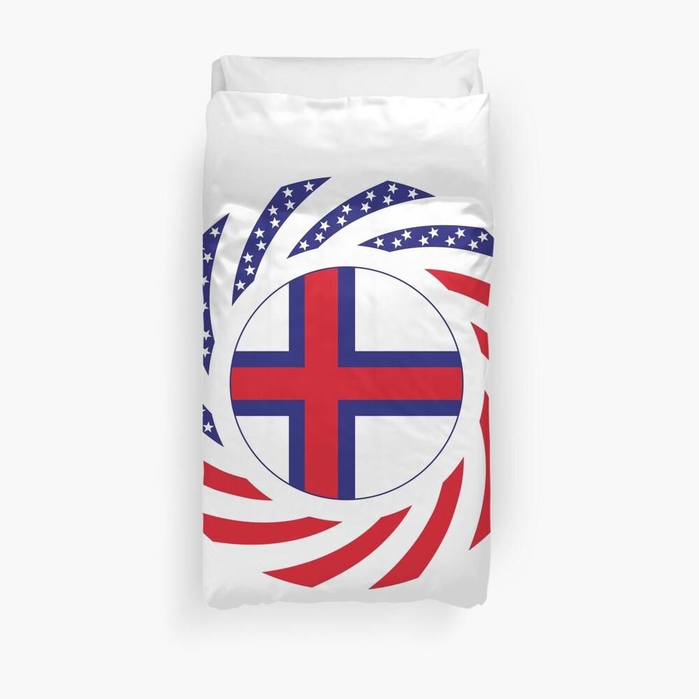 Faroe Islands American Multinational Patriot Flag Series Duvet Cover