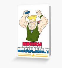 Brush Regularly Greeting Card