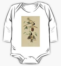 James Audubon Vector Rebuild - The Birds of America - From Drawings Made in the United States and Their Territories V 1-7 1840 - Carolina Titmouse One Piece - Long Sleeve