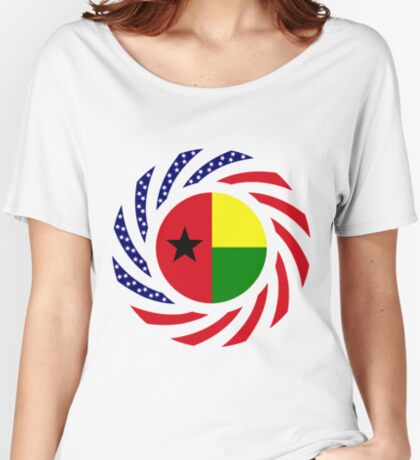 Guinea Bissau American Multinational Patriot Flag Series Relaxed Fit T-Shirt
