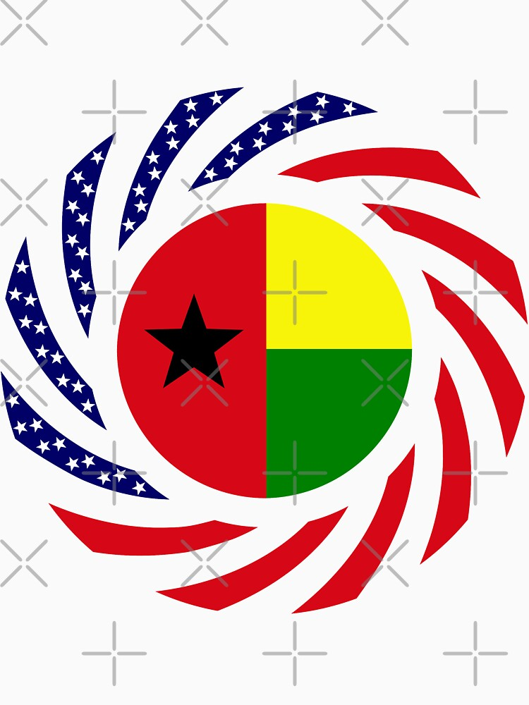 Guinea Bissau American Multinational Patriot Flag Series by carbonfibreme