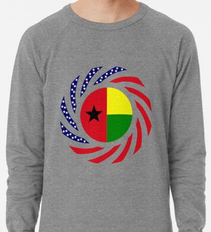 Guinea Bissau American Multinational Patriot Flag Series Lightweight Sweatshirt