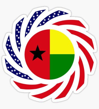 Guinea Bissau American Multinational Patriot Flag Series Sticker