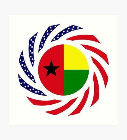 Guinea Bissau American Multinational Patriot Flag Series Art Print