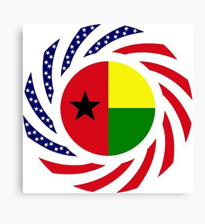 Guinea Bissau American Multinational Patriot Flag Series Canvas Print