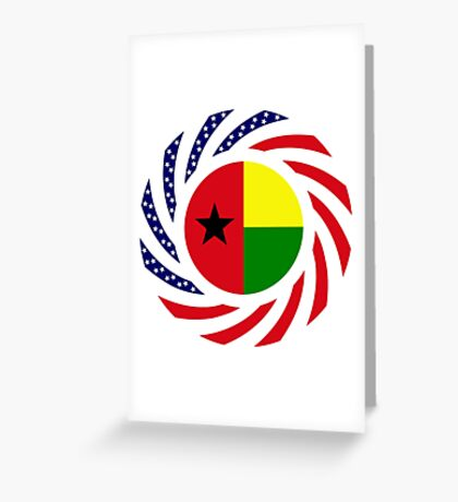 Guinea Bissau American Multinational Patriot Flag Series Greeting Card