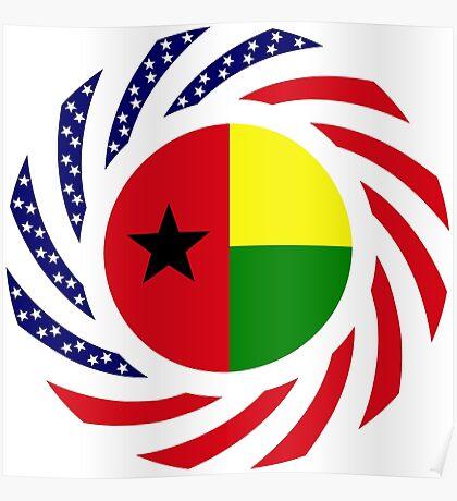 Guinea Bissau American Multinational Patriot Flag Series Poster