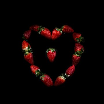 Heart of strawberries by VanGalt