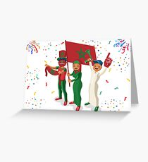 Moroccan Football Fans Greeting Card