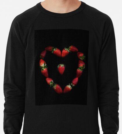 Herz aus Erdbeeren Leichter Pullover