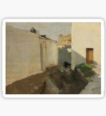White Walls in Sunlight, Morocco by John Singer Sargent Sticker