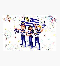 Russia 2018 world cup, Uruguay football supporters. Photographic Print