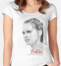 Classic portrait by Blunder for Vinylone Women's Fitted Scoop T-Shirt