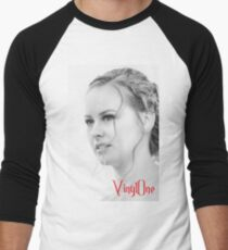 Classic portrait by Blunder for Vinylone Baseball ¾ Sleeve T-Shirt