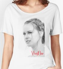 Classic portrait by Blunder for Vinylone Women's Relaxed Fit T-Shirt