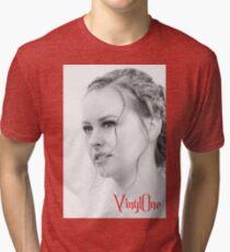 Classic portrait by Blunder for Vinylone Tri-blend T-Shirt