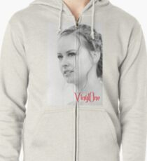 Classic portrait by Blunder for Vinylone Zipped Hoodie