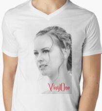 Classic portrait by Blunder for Vinylone Men's V-Neck T-Shirt