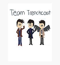 Team Trenchcoat (superwholock) Photographic Print