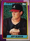 395 - Jeff Blauser by Foob's Baseball Cards